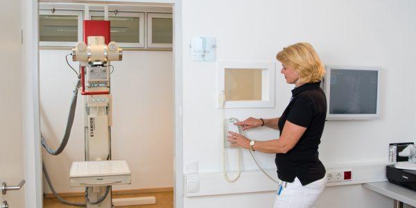 Bedienung Röntgenanlage